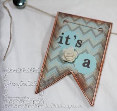 Scrapbookista Frosted Gender Reveal Banner Boy 002